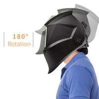 Welding Helmet Solar Power Auto Darkening Welding Mask Filter TIG MIG with Adjustable Headband 4 Optical Sensors