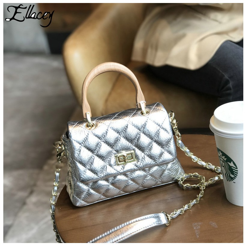 New 2018 Diamond Lattice Mini Bag Women Cow Leather Small Handbag Genuine Leather Crossbody Bags Lady Mini Messenger Bags women shoulder bag cossbody handbag genuine first layer of cow leather 2017 korean diamond lattice chain women messenger bag