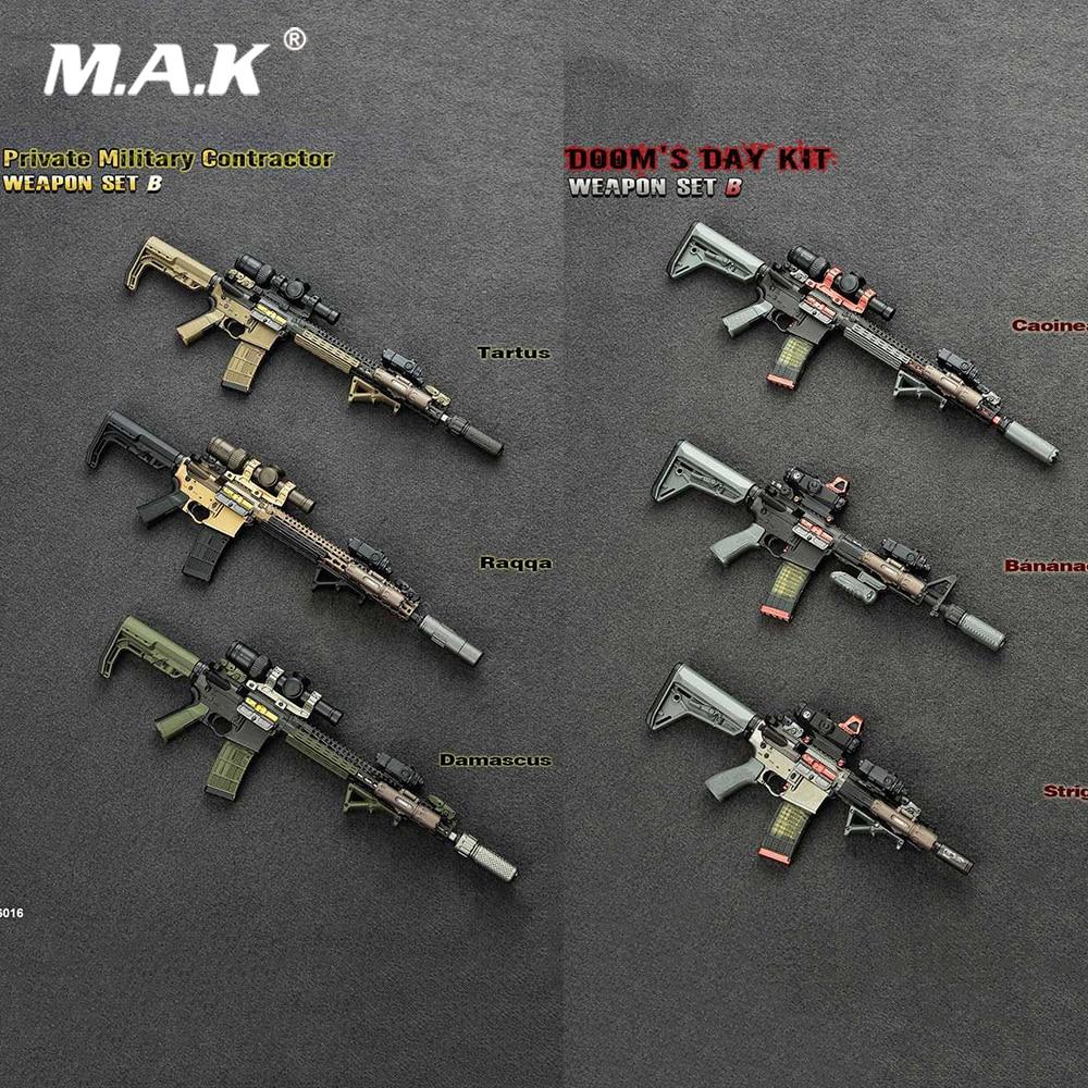 9A-91 Assault Rifle Carbine 4D Weapon Gun Model fit for 1:6 Scale Action Figure