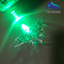 100pcs 5mm GREEN Light-Emitting-Diode Automatic Flashing LED Flash Control Blinking 5mm Blink LED Diodo 1.5HZ danshan G