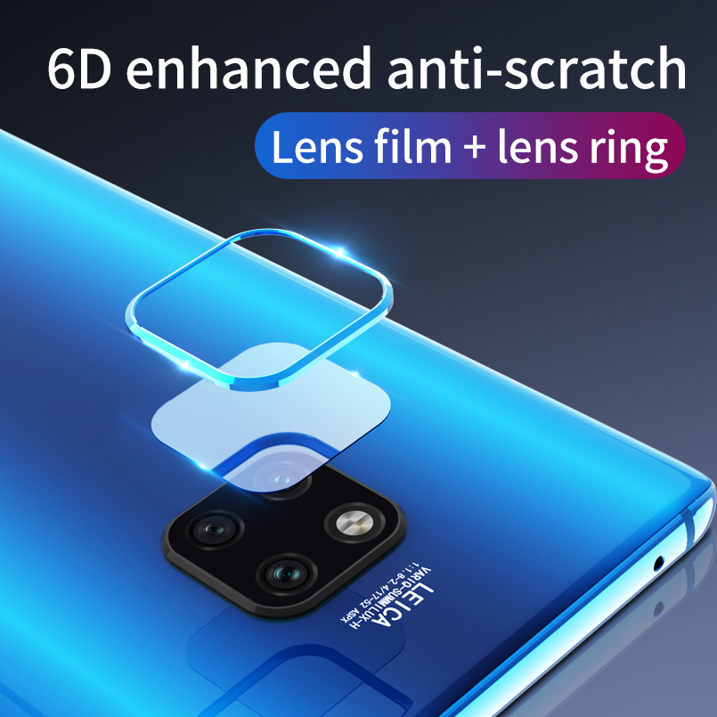 20 2 Pce Transparent  Glass for Huawei Mate 20 Pro Protective Glass Back Camera Lens Tempered Camera Glass for mate 20 Mate X (1)