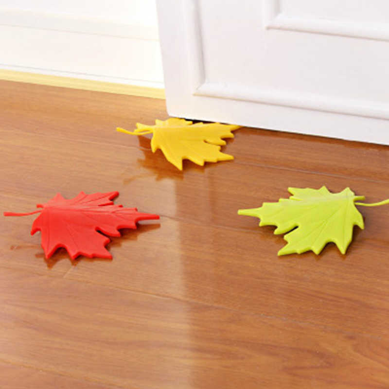 1pc Maple Leaf Shape Finger Door Stopper Safety Protector Design Decor Home Floor baby protect YL678180