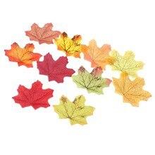Mieszane kolory sztuczne liście klonu żywe zdjęcie Prop dekoracje dla wielu palces kreatywne sesje fotograficzne zaopatrzenie firm