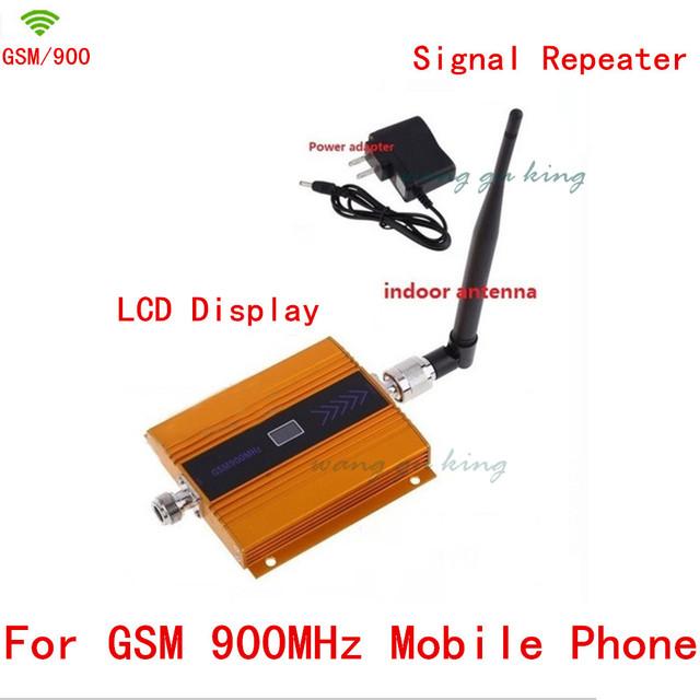 Antena interna + Mini GSM reforço de sinal display LCD! gsm 900 mhz celular repetidor de sinal GSM, amplificador de sinal de telefone celular GSM