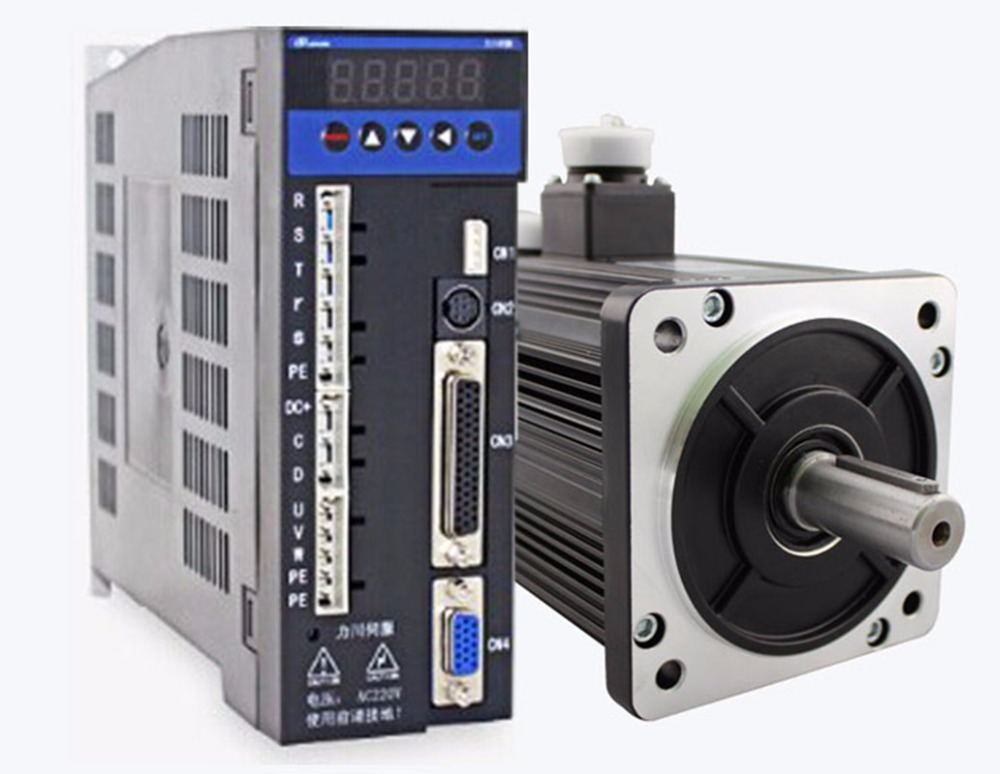 3phase 220V 1300w 1.3kw 5N.m 2500rpm 130mm AC servo motor drive kit 2500ppr with 3m cable dcs810 leadshine digital dc brush servo drive servo amplifier servo motor controller up to 80vdc 20a new original