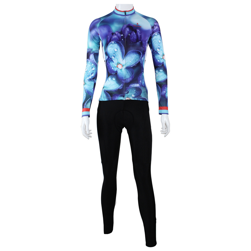 ILPALADINO Spring Long Sleeve Woman UV Protect Cycling Jerseys Suit Mountain Bike Quick Dry Breathable Riding Jersey Clothing