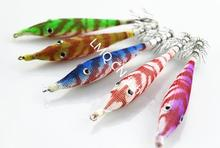 New 5pcs Sea Fishing color mix Lure Luminous Squid Fake Lures Hook Jigs Tackle ocean Hooks free shipping