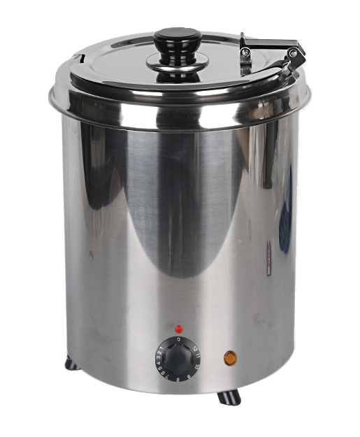 Electric Water-bath Soup Warmer 110V 220V Stainless Steel Body 5.7L 10L Cafeteria Buffet Canteen Kitchen Use