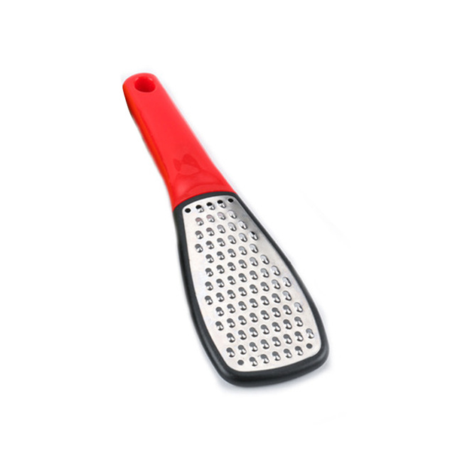 Stainless Steel Grater with Bright Handle