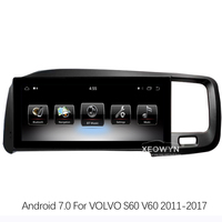 8.8inch RAM2GROM32G Android 7.0 PX3 Car Radio Stereo For Volvo S60 2011 2015 GPS Navigation Support trip informaiton full touch