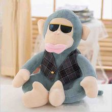lovely plush  monkey toy big monkey doll with glasses gift