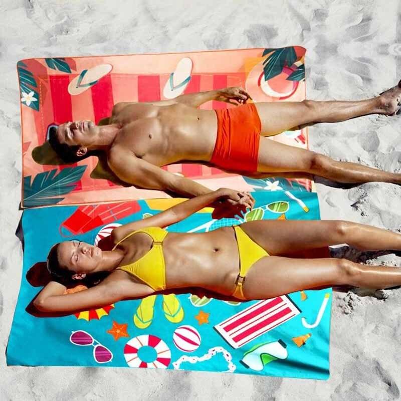 Initiatief Gedrukt Flamingo Strand Zwemmen Handdoek 150 Cm Snel Droog Microfiber Sport Handdoeken Yoga Mat Reizen Camping Gym Bad Accessoires