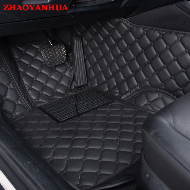 ZHAOYANHUA car floor mats fit right hand drive for Peugeot 206 207 ...