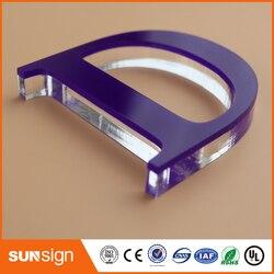 Sunsign costruito lettere acriliche non insegne luminose