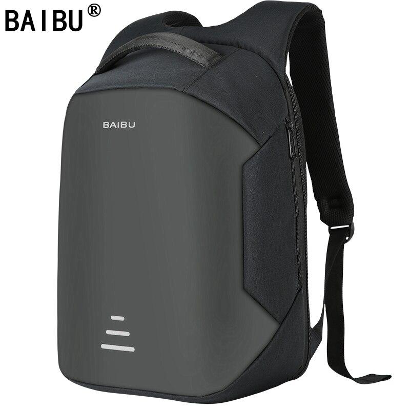 BAIBU NEUE Männer 15,6 Laptop Rucksack Anti Diebstahl Rucksack Usb Lade Frauen Schule Notebook Tasche Oxford Wasserdichte Reise Rucksack
