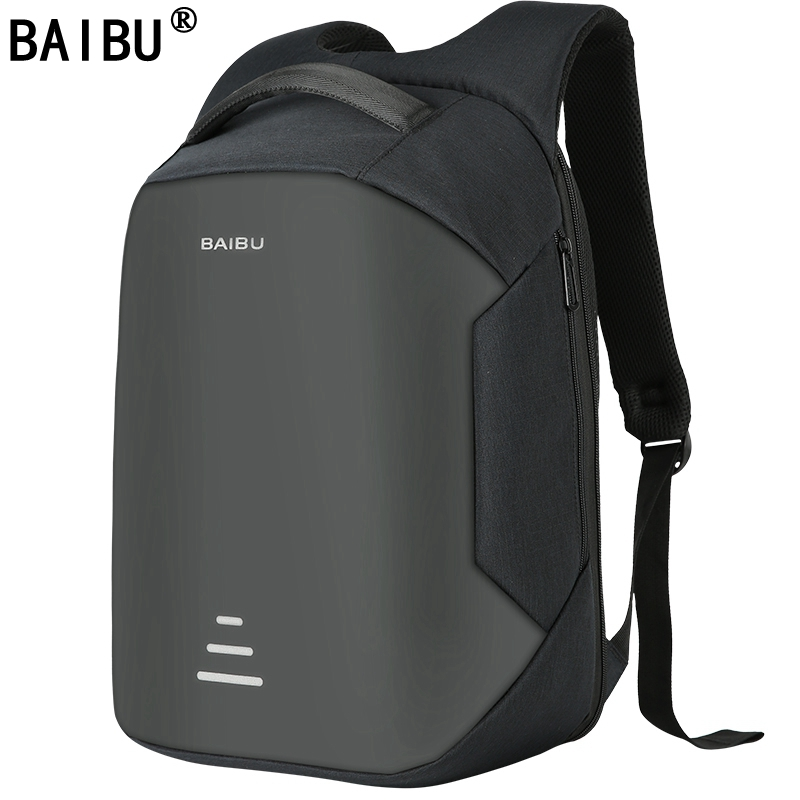 BAIBU NEW Men 15.6 Laptop Backpack Anti Theft Backpack Usb Charging  Women School Notebook Bag Oxford Waterproof Travel Backpack kingsons external charging usb function school backpack anti theft boy s girl s dayback women travel bag 15 6 inch 2017 new