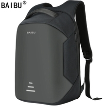 BAIBU NEW Men 15.6 Laptop Backpack Anti Theft Backpack Usb Charging Women School Notebook Bag Oxford Waterproof Travel Backpack