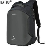 BAIBU NEW Men 15 6 Laptop Backpack Anti Theft Backpack Usb Charging Women School Notebook Bag