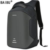 BAIBU NEW Men 15 6 Laptop Backpack Anti Theft Backpack Usb Charging Women School Notebook Bag