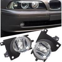 PAIR FOR 2001 2003 BMW E39 OEM FRONT BUMPER REPLACEMENT CLEAR FOG LIGHTS LAMPS