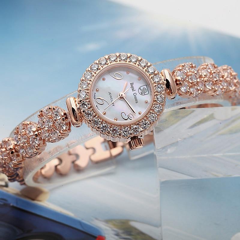Lady Women s Watch Japan Quartz Fashion Luxury Jewelry Hours Mother of Pearl Dress Bracelet Brass