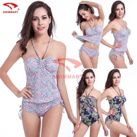 Hot Women S Swimwear Swimsuit Bikini Sets Padded Push Up Triangle Top Ties At Neck Ruched