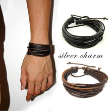 EVBEA Braided PU Leather Bracelets for Men Bangle & Bracelet Fashion Men Jewelry Black Brown White jiayiqi fashion men leather bracelets black brown color bracelets