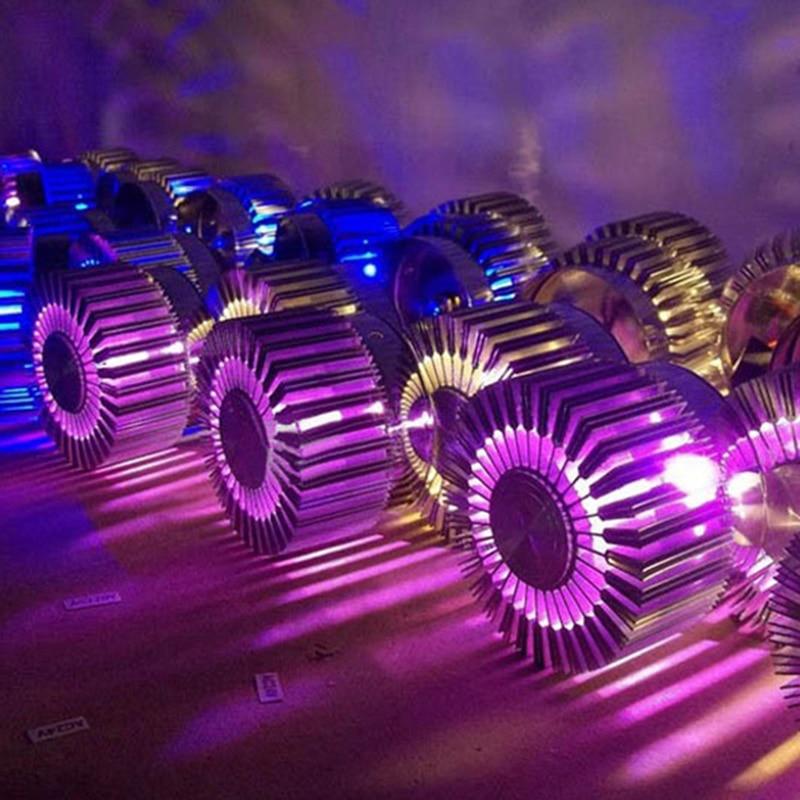 Светодиодный настенный светильник алюминиевый настенный светильник высокой мощности Светодиодный микросхема RGB цветной с пультом дистанц...