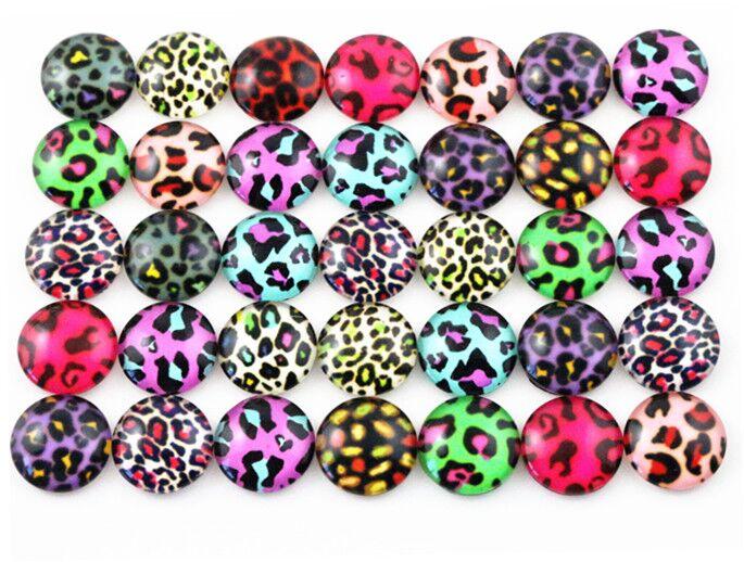 Hot Sale 50pcs 12mm  Mixed Handmade Photo Glass Cabochons  (G2-41)