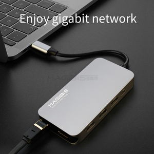 Image 3 - Hagibis 9 in 1 USB C Type c HUB 3.0 USB C to HDMI 4K SD/TF Card Reader PD charging Gigabit Ethernet Adapter for MacBook Pro HUB