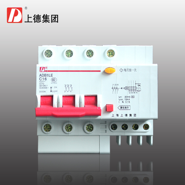 Group on three phase four wire circuit breaker/residual current ...