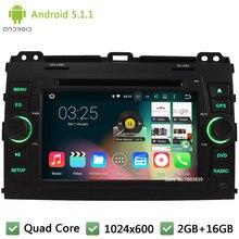 Quad core Android 5.1.1 2Din 7″ HD 1024*600 Car DVD Player Radio Stereo Audio Screen For Toyota Land Cruiser Prado 120 2002-2009
