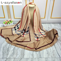 2017 Brand Silk Scarf Cashmere Luxury Pashmina Winter Women Scarves Shawls Wraps Lady Summer Beach Bandanas