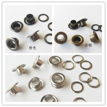 500pcs Scrapbook Eyelets Round Inner Hole 4mm Metal eyelets For Scrapbooking embelishment garment clothes eyelets,Apparel Sewing