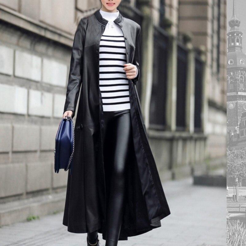 Hohe Qualität Neue 2019 Vogue Lange Pu Leder Mantel Jaqueta Couro Feminina Euro Mode Schwarz Street Casaco Frauen Plus Größe-in Leder & Wildleder aus Damenbekleidung bei  Gruppe 3
