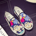 Spring and summer new flat with cartoon all-match shoes elastic band comfortable canvas Flat Casual  Simple Hot Selling
