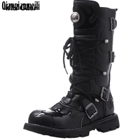 High Quality Genuine Leather Men High Boots Black Military Boots Tactical Boots Army Boots Men Botas