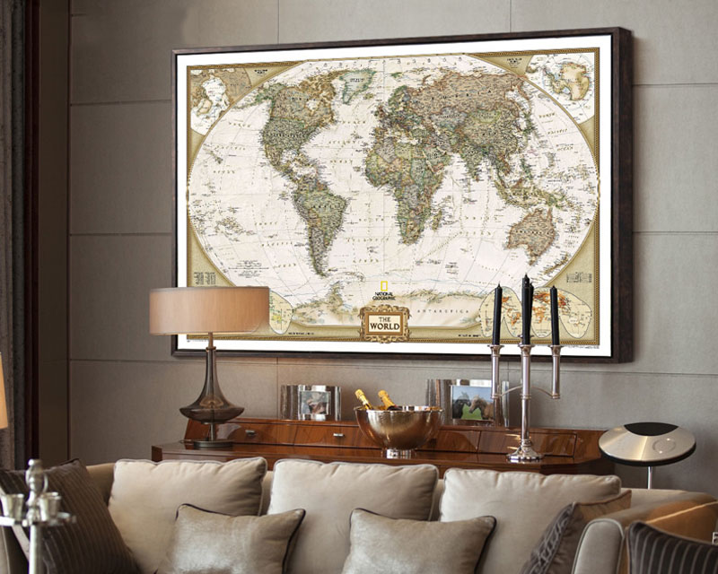 Tie ler vintage retro matte kraft paper world map antique poster tie ler vintage retro matte kraft paper world map antique poster wall sticker home decora 725475cm in wall stickers from home garden on aliexpress gumiabroncs Image collections
