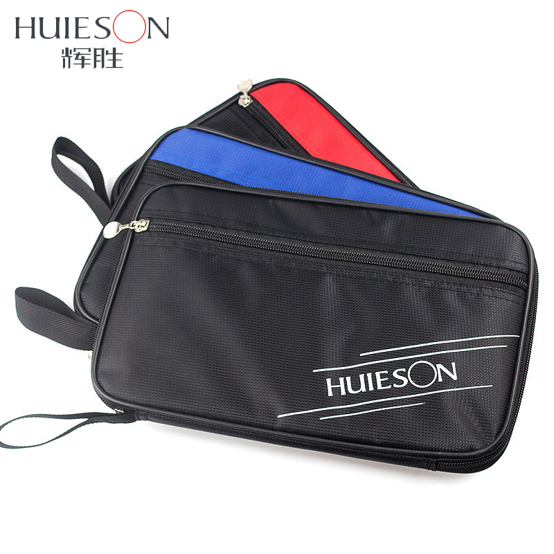 Huieson Exclusive Quality Rectangle Table Tennis Racket Case Bag Ping Pong Paddle Bat Container Bag Red/Blue/Black