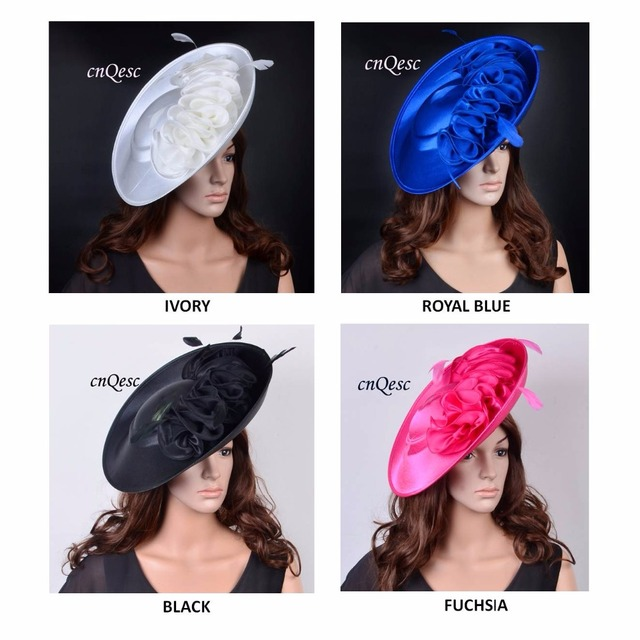 d56cbbc102a NEW ARRIVAL! Large saucer sinamay satin fascinator hat for Kentucky Derby