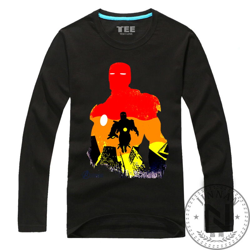 Iron man long sleeve t shirt men men boy movie t shirt for Iron man shirt for men