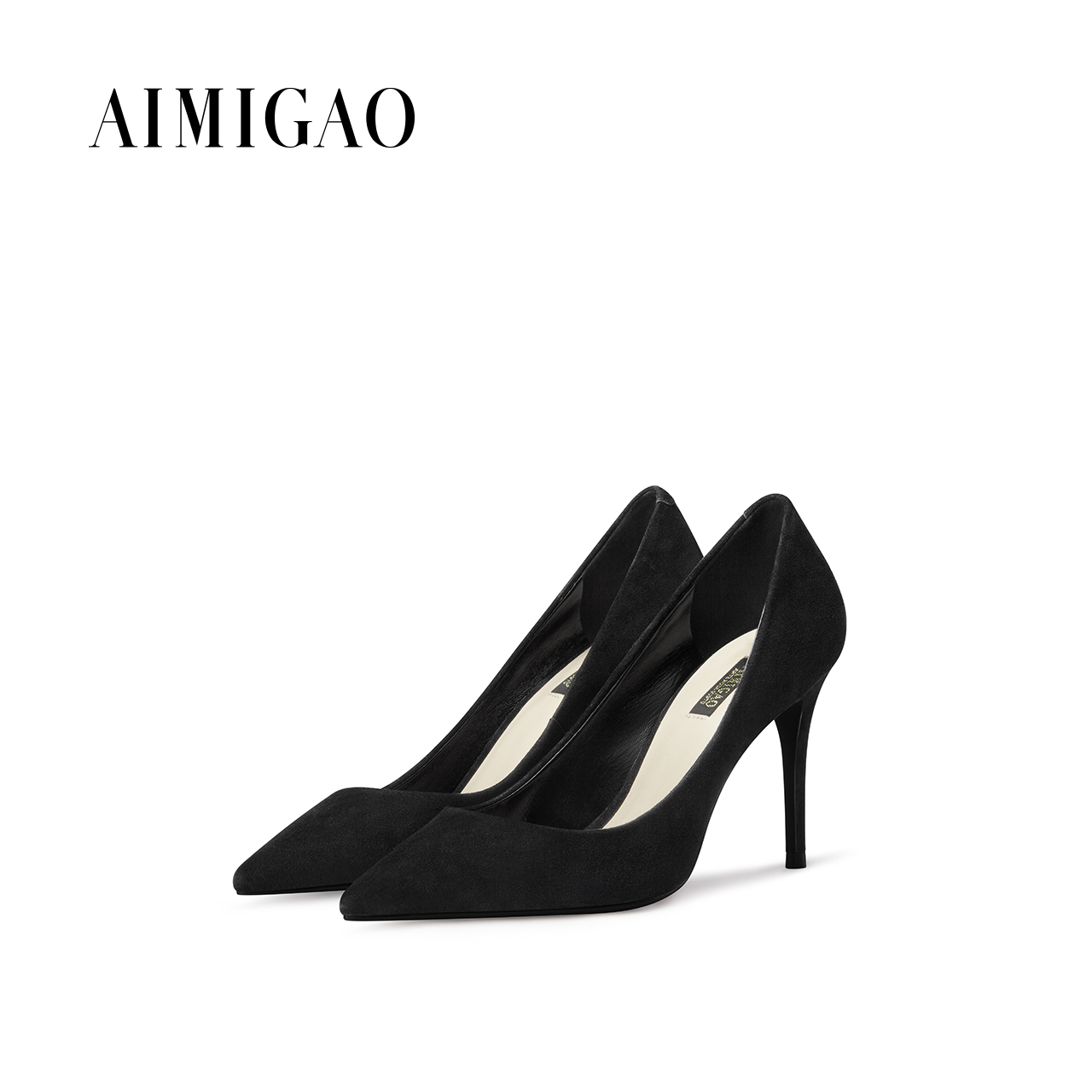 AIMIGAO Sheep Suede Classic Black women Pumps Shoes 2017 autumn shallow mouth Pointed Toe Sexy High Heels Fashion Women Shoes classic fashion women s club banquet wedding shoes sexy suede zipper 17 cm in stiletto heels