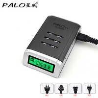 Palo Universal C905W 4 ranuras LCD pantalla inteligente cargador de batería inteligente para AA/AAA NiCD NiMH baterías recargables