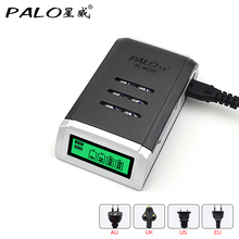 Palo Universal C905W 4 Slots LCD Display Smart Intelligent Battery Charger for AA/AAA NiCD NiMH Rechargeable Batteries