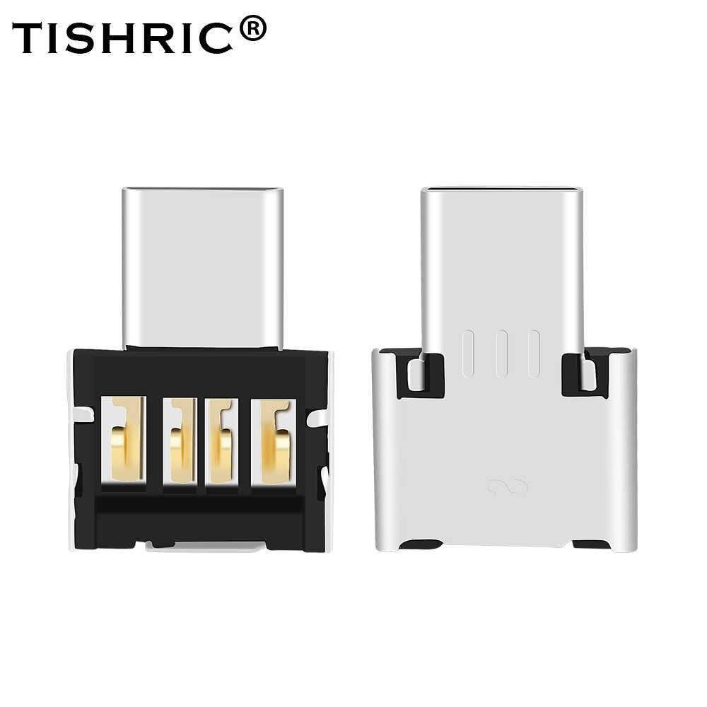 Tishric otg micro usb tipo c USB-C para usb adaptador tipo-c conversor de cabo de dados para xiaomi huawei samsung mouse usb flash drive