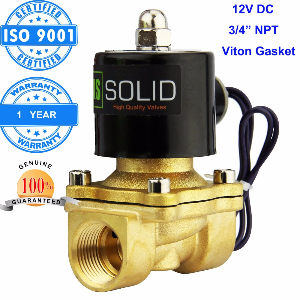 U S Solid 3 4 Quot Brass Electric Solenoid Valve 12 V Dc Npt