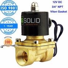 ÉTATS-UNIS Solide 3/4 «en laiton Électrique Électrovanne 12 V DC TNP Fil Normalement Fermé diesel kérosène alcool Air Gas Oil Eau