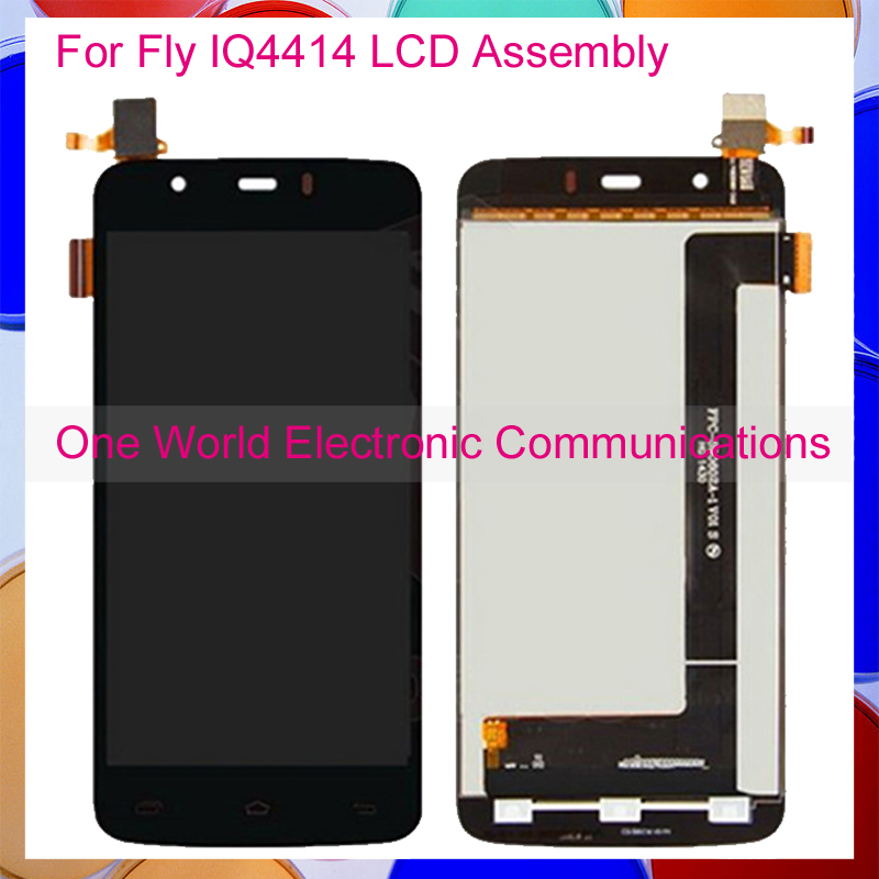 Black New For Fly IQ4414 EVO Tech 3 IQ 4414 Full LCD Screen Display With Touch