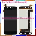 Negro nuevo para fly iq4414 evo tech 3 iq 4414 completo Pantalla LCD Con Pantalla Táctil Digitalizador Conjunto Completo Código de Seguimiento
