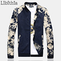 Mens Jackets And Coats Floral Spring Autumn Zippers Casual Style Stand Collar Big Size 5XL Slim Fit Chaquetas Homme Fleece J357